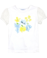 Mayoral Girl's T-shirt with Tulle Plumetti Sleeves