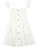 Mayoral Girl's Embroidered Daisy Jacquard Sundress