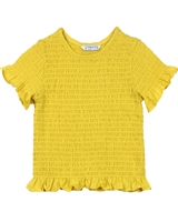 Mayoral Girl's Smocked Top in Yellow