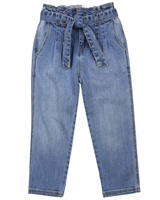 Mayoral Girl's Slouchy Denim Pants in Medium Blue