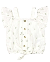 Mayoral Girl's Embroidered Flowers Blouse