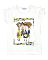 Mayoral Girl's T-shirt with Printed Girls