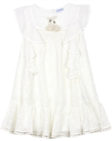 Mayoral Girl's Chiffon Eyelet Dress with Flounces