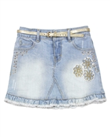 Mayoral Girl's Bleach Denim Mini Skirt