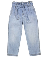 Mayoral Girl's Slouchy Denim Pants in Bleach Blue