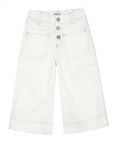 Mayoral Girl's White Denim Culotte Pants