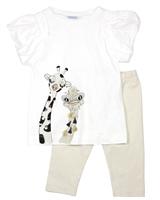 Mayoral Girl's Tunic with Balloon Sleeves and Leggings Set