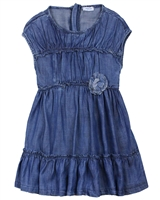 Mayoral Girl's Tiered Chambray Dress