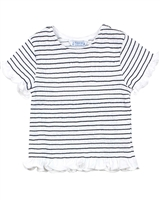 Mayoral Girl's Striped Smocked Top