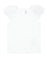 Mayoral Girl's T-shirt with Eyelet Shoulders