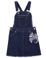 Mayoral Girl's Denim Skirt with Suspenders