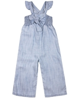 Mayoral Girl's Bleached Chambray Jumpsuit