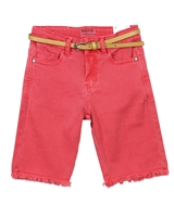 Mayoral Girl's Denim Biker Shorts
