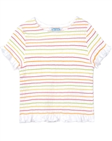 Mayoral Girl's Smocked Top in Multicolour Stripes