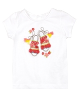 Mayoral Girl's T-shirt with Beach Shoes Embroidery