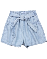 Mayoral Girl's Beached Chambray Shorts