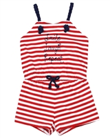 Mayoral Girl's Striped Beach Romper