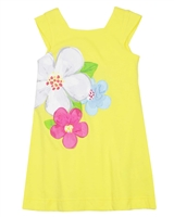 Mayoral Girl's Beach Dress with Flowers in Yellow