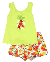 Mayoral Girl's Tank Top and Shorts in Fruits Print