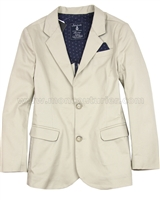 Mayoral Junior Boy's Twill Blazer Beige