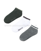 Mayoral Junior Boy's Short Sock Set Gray / White