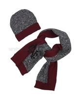 Mayoral Junior Boy's Hat and Scarf Set Burgundy