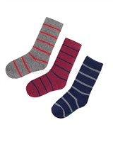 Mayoral Junior Boy's Striped Socks Burgundy
