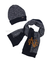 Mayoral Junior Boy's Hat and Scarf Set Navy