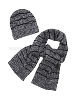 Mayoral Junior Boy's Hat and Scarf Set Black