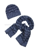 Mayoral Junior Boy's Hat and Scarf Set Blue