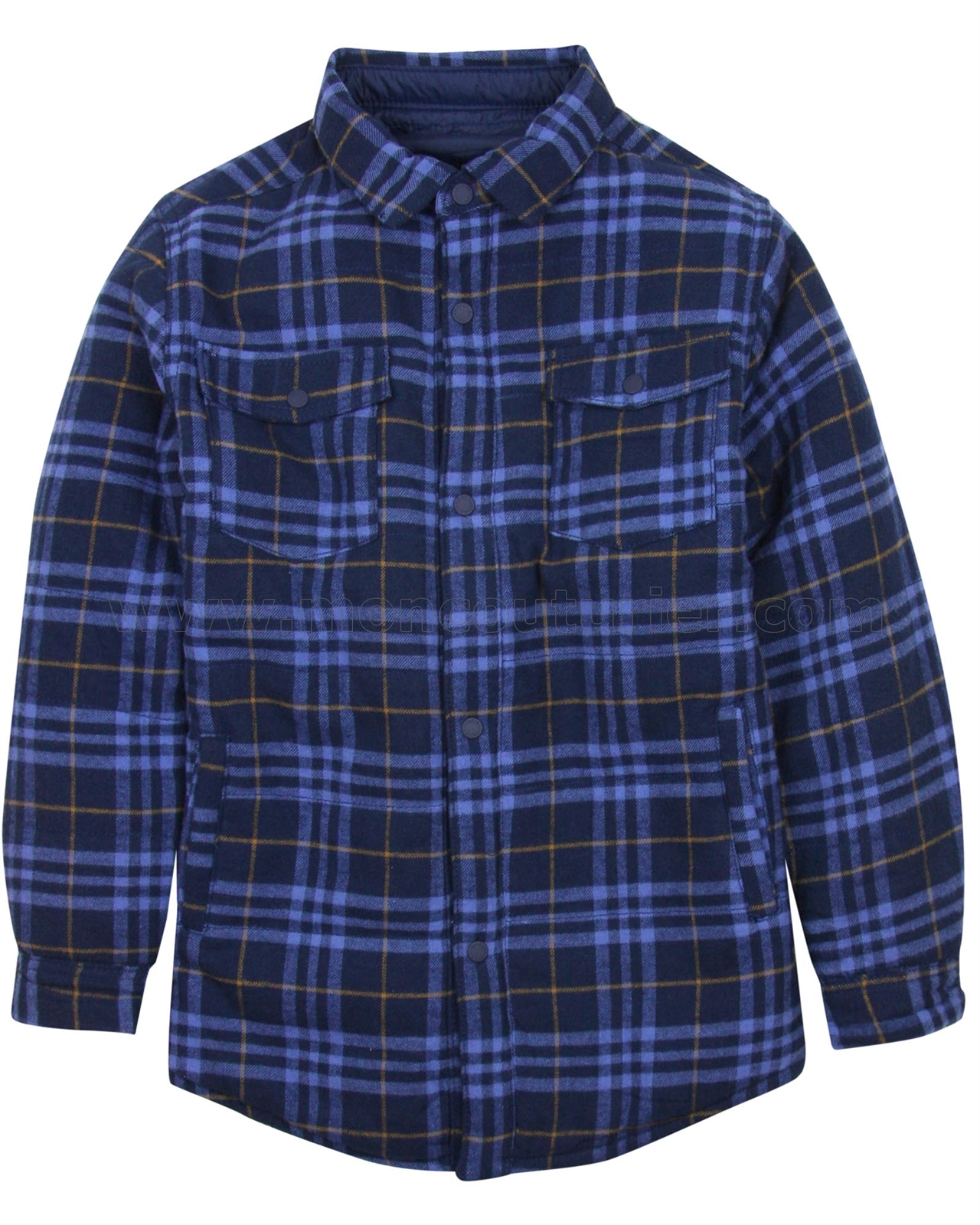 fd39591bc Mayoral Junior Boy s Reversible Plaid Shirt Jacket - Mayoral ...