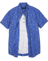 Mayoral Boy's Layered Shirt Blue
