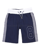 Mayoral Boy's Terry Shorts with Stripes Navy