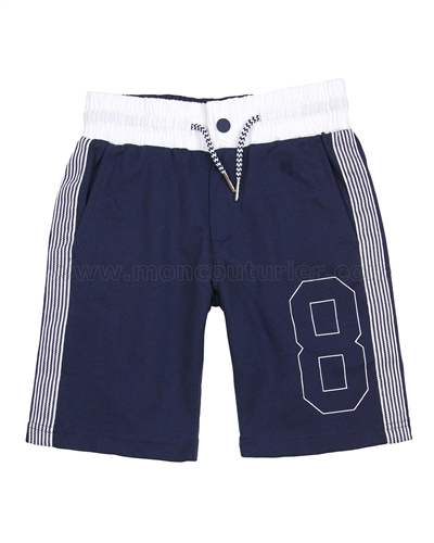Mayoral Junior Boys Terry Shorts with Stripes Gray Sizes 8-16