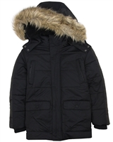Mayoral Junior Boys' Black Parka Coat