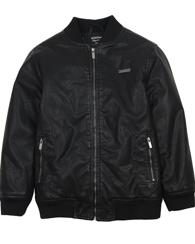 876d8dedfff7 Mayoral Junior Boys  Pleather Bomber Jacket - Mayoral - Mayoral Fall ...