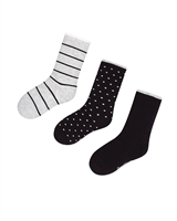 Mayoral Junior Boys' 3-pair Socks Set Black