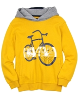 Mayoral Junior Boys' Orange Sweatshirt with Bicycle