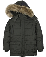 Mayoral Junior Boys' Olive Parka Coat