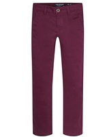 Mayoral Junior Boys' Burgundy Basic Chino Pants