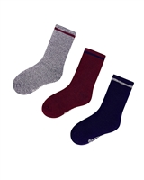 Mayoral Junior Boys' 3-pair Socks Set Burgundy