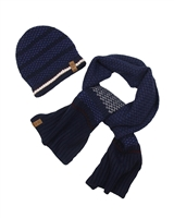 Mayoral Junior Boys' Navy Hat and Scarf Set