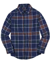 Mayoral Junior Boys' Navy Plaid Shirt
