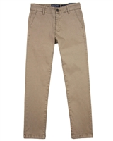 Mayoral Junior Boys' Taupe Basic Chino Pants