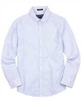 Mayoral Junior Boys' Light Blue Patterned Shirt