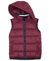 Mayoral Junior Boys' Quilted Puffer Vest with Hood