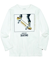 Mayoral Junior Boys' T-shirt with Skateboard Print