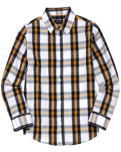 Mayoral Junior Boys' Long Sleeve Check Shirt