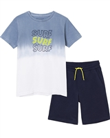 Mayoral Junior Boys' Ombre Look T-shirt and Shorts Set