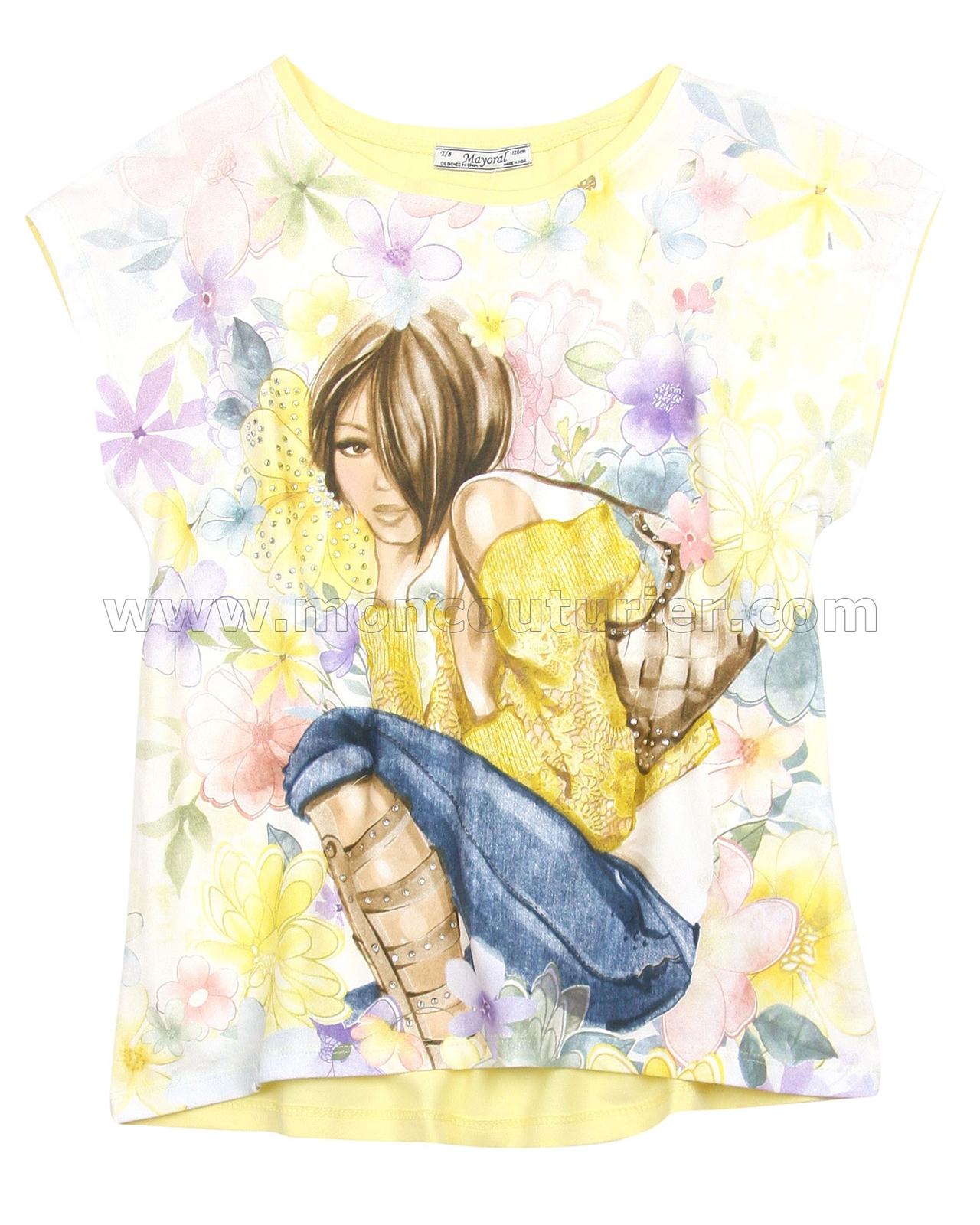 0446b541283f2e Mayoral Girl s Printed T-shirt - Mayoral - Mayoral Spring Summer 2016